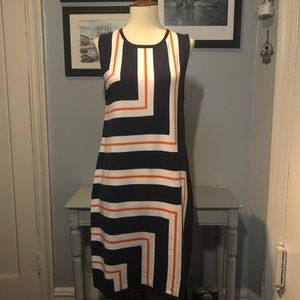 NWT Trina Turk Geo Striped Sweater Dress